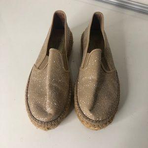 Anthro Gaimo Shimmer Espadrille Platform Loafers